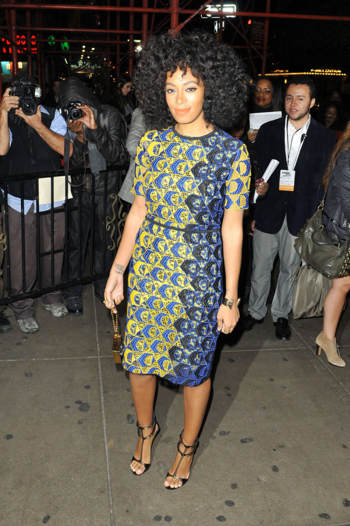 Singer Solange Knowles makes her way into the 'Glamour Women of the Year Awards' at Carnegie Hall in New York City