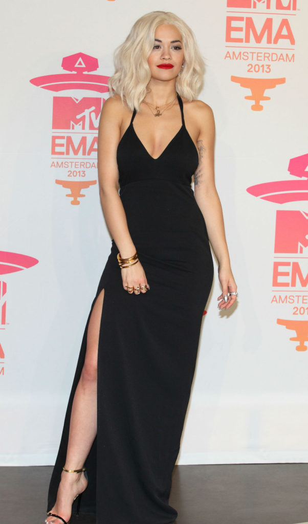 Rita Ora black dress