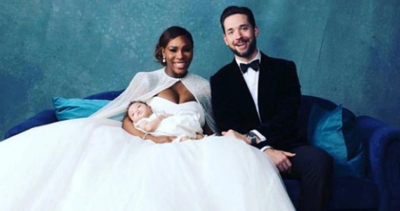 Serena and Alexis with their daughter.